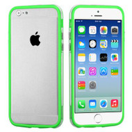 Hybrid Bumper Case for iPhone 6 / 6S - Green Clear