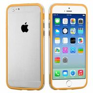 Hybrid Bumper Case for iPhone 6 / 6S - Orange Clear