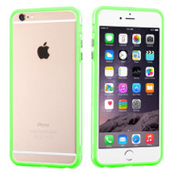 Hybrid Bumper Case for iPhone 6 Plus / 6S Plus - Green Clear