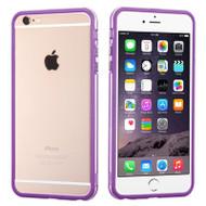 Hybrid Bumper Case for iPhone 6 Plus / 6S Plus - Purple Clear