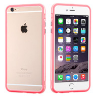 Hybrid Bumper Case for iPhone 6 Plus / 6S Plus - Pink Clear