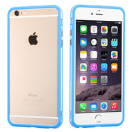Hybrid Bumper Case for iPhone 6 Plus / 6S Plus - Blue Clear