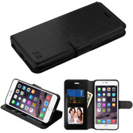 Book-Style Leather Folio Case for iPhone 6 Plus / 6S Plus - Black