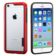 Snap-On Hybrid Bumper Case for iPhone 6 Plus - Red