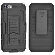 Robust Armor Stand Protector Cover with Holster for iPhone 6 / 6S - Black