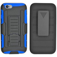 Robust Armor Stand Protector Cover with Holster for iPhone 6 / 6S - Black Blue