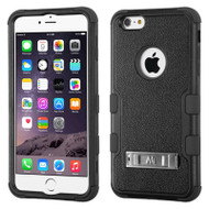 Military Grade Certified TUFF Hybrid Kickstand Case for iPhone 6 Plus / 6S Plus - Black