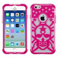 GloCase Hybrid Protector Cover for iPhone 6 / 6S - Skull Hot Pink