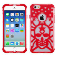 GloCase Hybrid Protector Cover for iPhone 6 / 6S - Skull Red