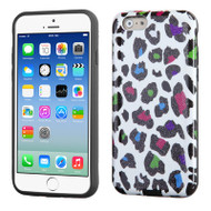 Dual Layer Graphic Hybrid Case for iPhone 6 / 6S - Color Leopard