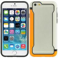 Protective Bumper Case for iPhone 6 / 6S - White Orange
