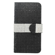 Diamond Wallet Case for iPhone 6 / 6S - Black Silver