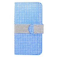 Diamond Wallet Case for iPHone 6 / 6S - Blue Silver