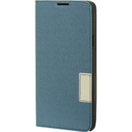 Leather Flip Hybrid Wallet Case for Samsung Galaxy Note 4 - Blue