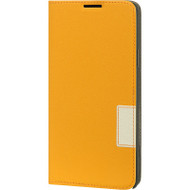 Leather Flip Hybrid Wallet Case for Samsung Galaxy Note 4 - Orange