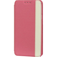 Designer Folio Hybrid Wallet Case for Samsung Galaxy Note 4 - Hot Pink White
