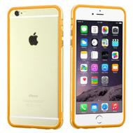 Hybrid Bumper Case for iPhone 6 Plus / 6S Plus - Orange Clear