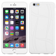Basketball Texture TPU Skin Cover for iPhone 6 Plus / 6S Plus - White