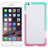 Multi-Color Perforated TPU Case for iPhone 6 Plus / 6S Plus - White