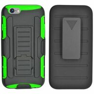 Robust Armor Stand Protector Cover with Holster for iPhone 6 Plus / 6S Plus - Black Green