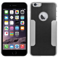 Aluminum Alloy Hybrid Armor Case for iPhone 6 Plus / 6S Plus - Black Chrome
