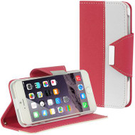 Classic Leather Wristlet Kickstand Case for iPhone 6 / 6S - Hot Pink