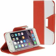 Classic Leather Wristlet Kickstand Case for iPhone 6 / 6S - Red