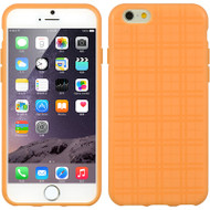 Plaid Pattern TPU Skin Cover for iPhone 6 - Orange
