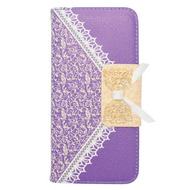 Lace Leather Folio Wallet Case for iPhone 6 / 6S - Purple
