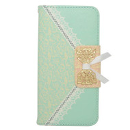 Lace Leather Folio Wallet Case for iPhone 6 / 6S - Tiffany Green