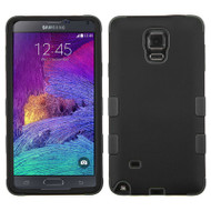 Military Grade Certified TUFF Hybrid Case for Samsung Galaxy Note 4 - Black