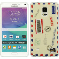 Graphic Rubberized Protective Gel Case for Samsung Galaxy Note 4 - Air Mail