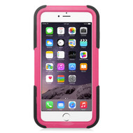 Maximum Armor Hybrid Case for iPhone 6 Plus / 6S Plus - Black Hot Pink