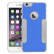 Aluminum Alloy Hybrid Armor Case for iPhone 6 Plus / 6S Plus - Blue Chrome