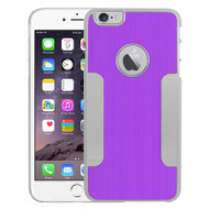 Aluminum Alloy Hybrid Armor Case for iPhone 6 Plus / 6S Plus - Purple Chrome