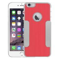 Aluminum Alloy Hybrid Armor Case for iPhone 6 Plus / 6S Plus - Red Chrome