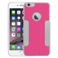 Aluminum Alloy Hybrid Armor Case for iPhone 6 Plus / 6S Plus - Hot Pink Chrome