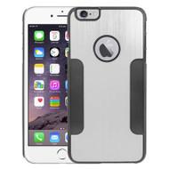 Aluminum Alloy Hybrid Armor Case for iPhone 6 Plus / 6S Plus - Silver Black