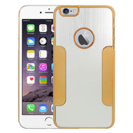 Aluminum Alloy Hybrid Armor Case for iPhone 6 Plus / 6S Plus - Silver Gold