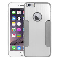Aluminum Alloy Hybrid Armor Case for iPhone 6 Plus / 6S Plus - Silver Titanium