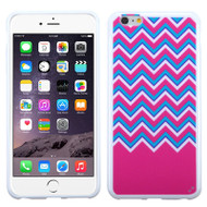 Polymer Hybrid Case for iPhone 6 Plus / 6S Plus - Zigg Zag Fuchsia