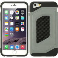 Carbon Fiber Design Hybrid Case for iPhone 6 Plus - Grey