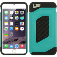 Carbon Fiber Design Hybrid Case for iPhone 6 Plus / 6S Plus - Teal