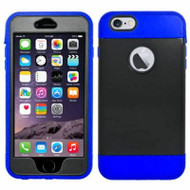 Triple Layer Hybrid Armor Case with Integrated Screen Protector for iPhone 6 Plus / 6S Plus - Black Blue