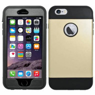 Triple Layer Hybrid Armor Case with Integrated Screen Protector for iPhone 6 Plus / 6S Plus - Gold