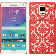 Lace Transparent Case for Samsung Galaxy Note 4 - Hot Pink