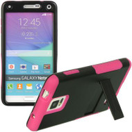 *Sale* Hybrid Armor Kickstand Case for Samsung Galaxy Note 4 - Black Hot Pink