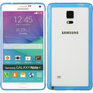 Glassy Transparent Gummy Cover for Samsung Galaxy Note 4 - Blue