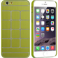 Swank Square Aluminum Alloy Fusion Hybrid Case for iPhone 6 / 6S - Green