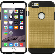 *Sale* Double Layer Hybrid Case for iPhone 6 Plus - Perforated Gold